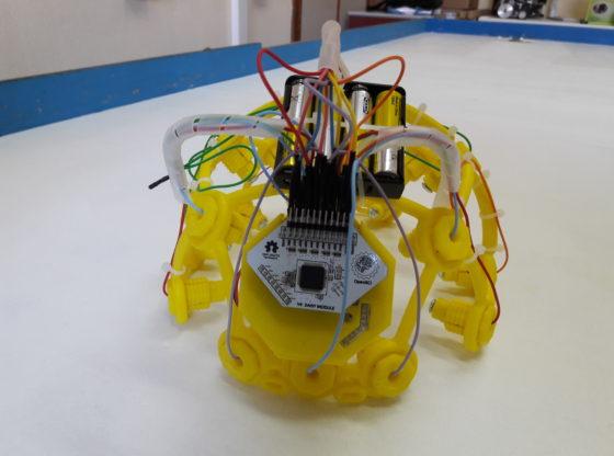 L'immagine mostra un casco stampato in 3D utilizzato nelle sperimentazioni del progetto visual BCI