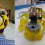 La foto mostra un caschetto stampato in 3D utilizzato nel progetto visual BCI