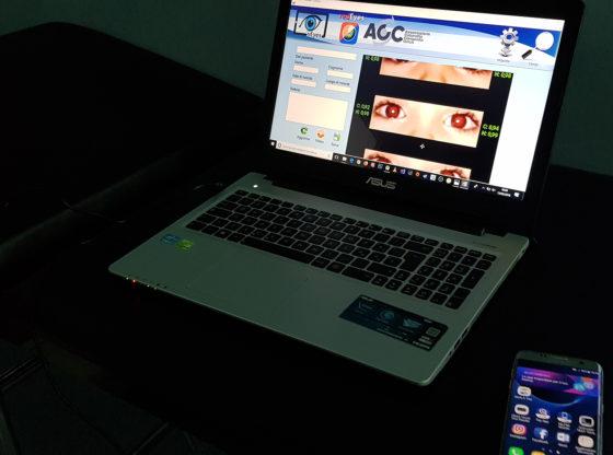 La foto mostra il client PC di redEyes in esecuzione
