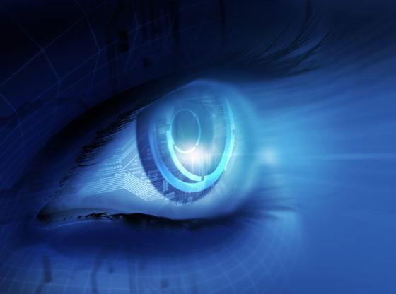 L'immagine mostra una rappresentazione artistica di un occhio bionico